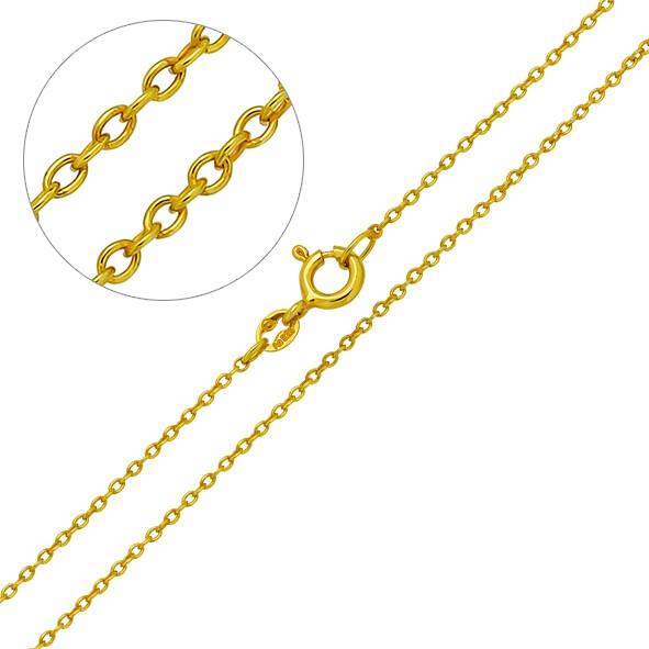 Halskette aus Silber 925, Ankerkette // vergoldet 50 cm