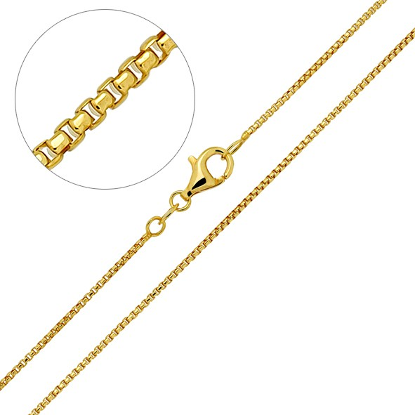 Halskette aus Silber 925, Venezianerkette // vergoldet