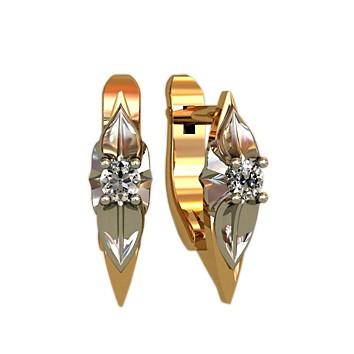 Женские серьги из золота