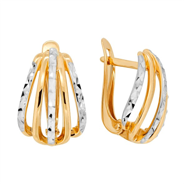 Золотые женские серьги