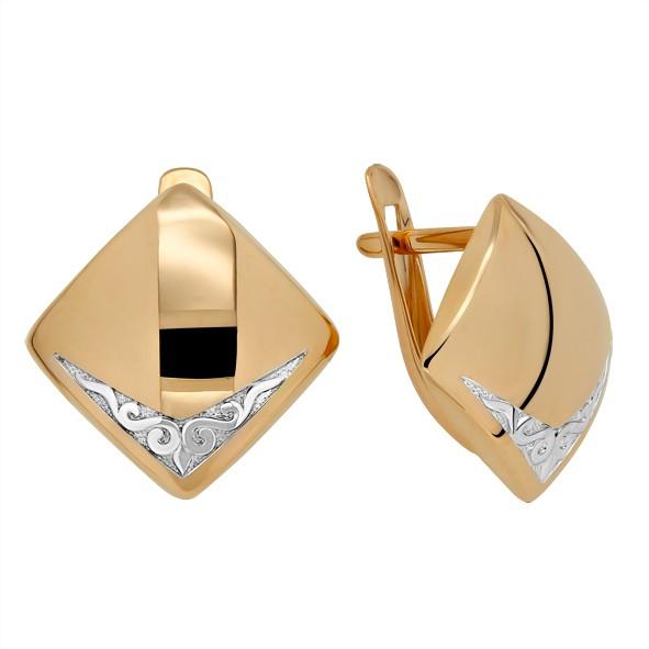 Серьги из русского золота 585