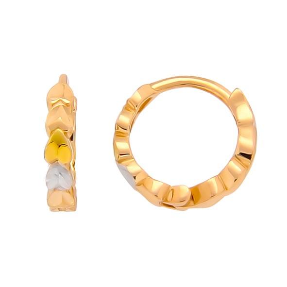 Ohrringe Kreolen, Rotgold 585