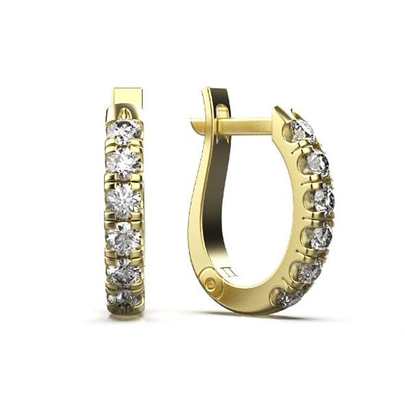 Серьги золотые с бриллиантами