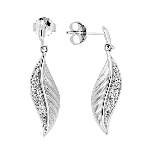 Серебряные серьги 925 // Серьги с перьями