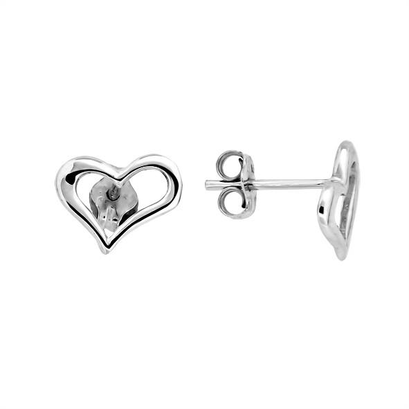 Ohrringe aus Silber 925 // Herz