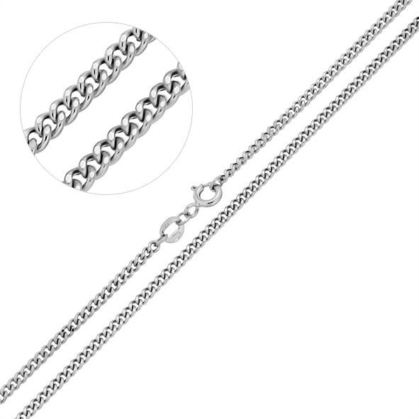 Серебряная цепочка,  родированная