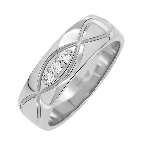 Обручальное кольцо 20(63) / Белое золото / 333