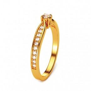 Ring mit Brillant 15(47) / Gelbgold / 333